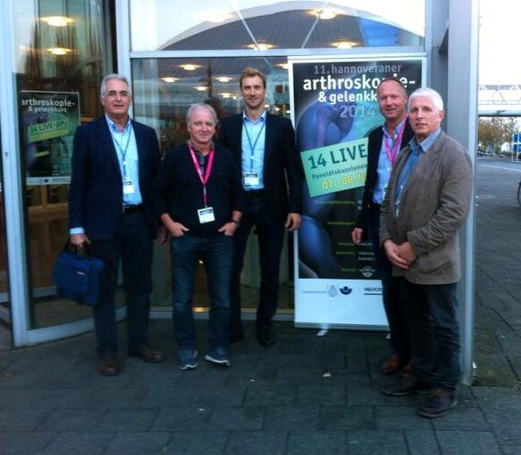 Foto de Dr de Casas con colegas alemanes