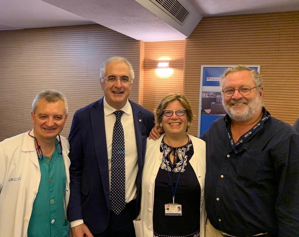 Con los Dres Cano, Higuera y Vidal